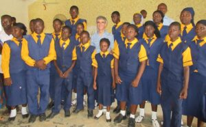 Rev. Andy Economides with Hausa Fulani Sponsored children