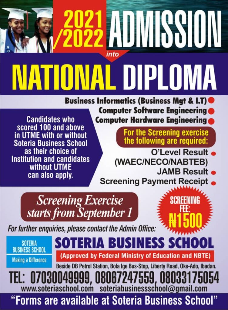 Admission Screening for 2021/2022 Commences